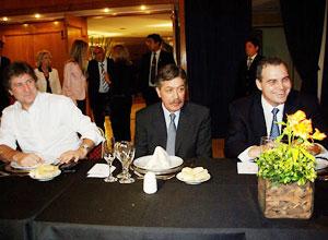 Gustavo Ick junto al Jefe de Gabinete Elías Suárez y el titular del ANSES Amado Boudou